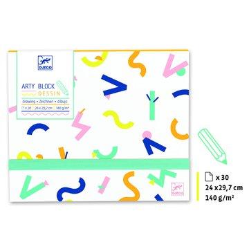 Djeco - Papier do rysowania Arty block DJ08786