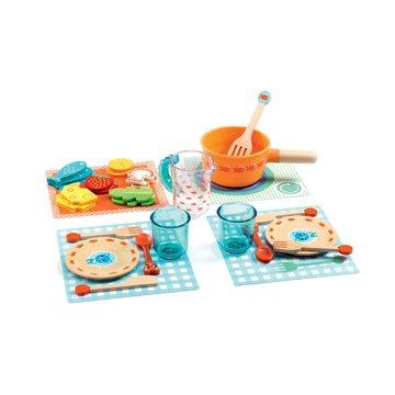 Djeco - Odgrywanie rl - zestaw obiadowy DJ06547