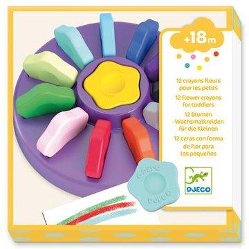 Djeco - 12 kwiatowych kredek dla maluchw DJ09005