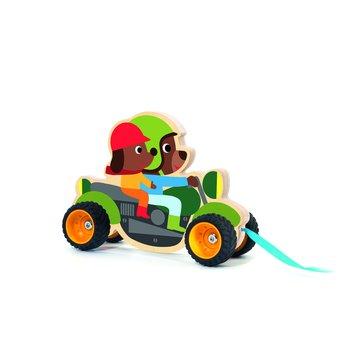 Djeco - Drewniana zabawka do cignic Terreno bike DJ06240