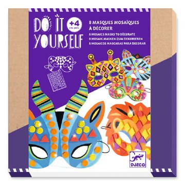 Djeco - Zrb to sam- zestaw 8 mozaikowych masek  DJ07900