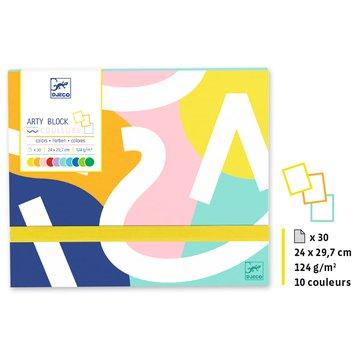 Djeco - Papier kolorowy Arty block DJ08788