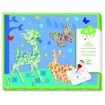 Djeco - Zestaw artystyczny malowanie kulkami DJ09686