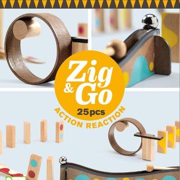 Djeco - Zestaw Zig & Go-25 element.DJ05642
