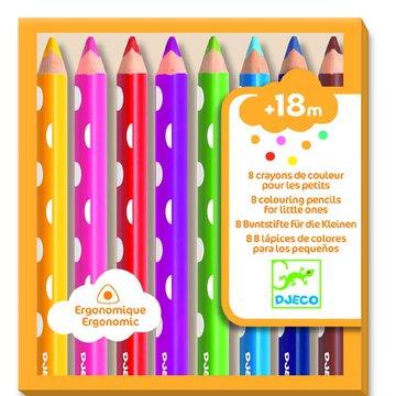Djeco - Zestaw 8 kredek dla maluchw DJ09004