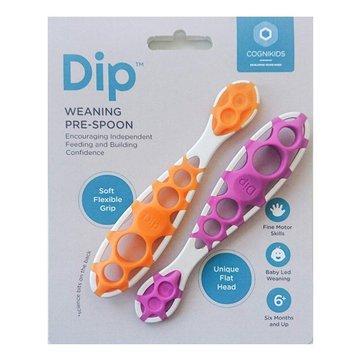 CogniKids Dip® 2 Sensoryczne łyżeczki do nauki samodzielnego jedzenia TANGERINE/FLAMINGO COGNIKIDS