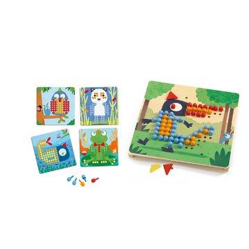 Djeco - Mozaika RIGOLO-kolorowe obrazki DJ08136