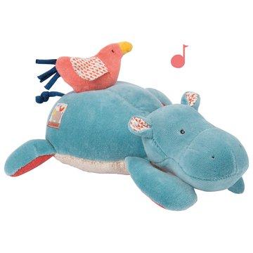 Moulin Roty - Pluszak grajcy hipopotam 25 cm 658041