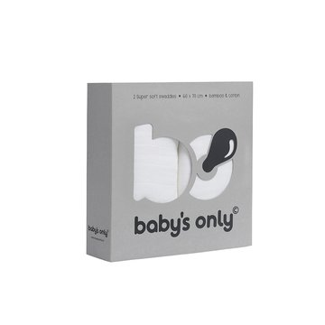 Baby's Only, PROMOCJA -50%, Otulacze bambusowe, białe, 60x70cm, 2 szt., WYPRZEDAŻ BABY'S ONLY