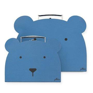 Jollein - Baby & Kids - Jollein - 2 walizeczki Animal Club Steel Blue