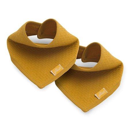 Jollein - Baby & Kids - Jollein - 2 śliniaki bandany Brick Velvet  Mustard