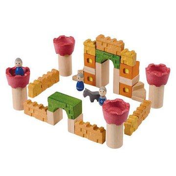 Drewniane klocki Zamek rycerski, Plan Toys® - USZKODZONE OPAKOWANIE