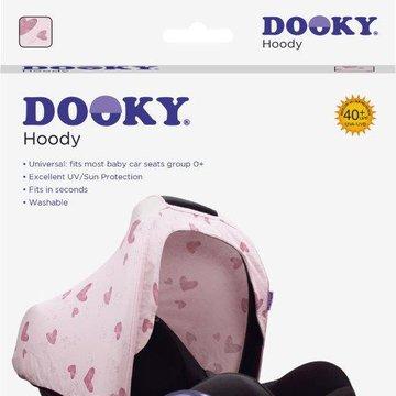 Dooky - Osłonka na budkę fotelika 0+ Pink Heart