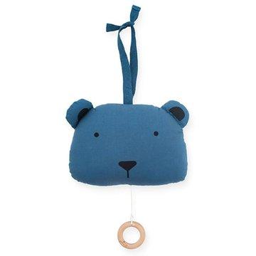 Jollein - Baby & Kids - Jollein - Pozytywka do usypiania Animal Club Steel Blue