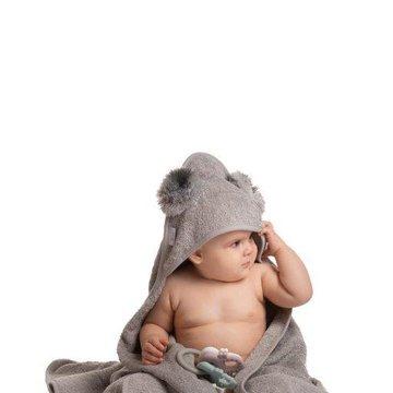 Bo Jungle - B-Ręcznik kąpielowy Eco organic Koala grey