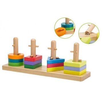 Joueco - Drewniana łamigłówka/puzzle