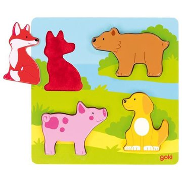 Puzzle Zwierzątka Goki 20x20cm