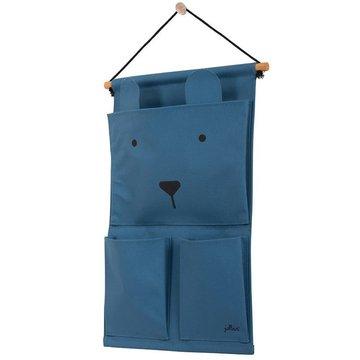Jollein - Baby & Kids - Jollein - Przybornik na łóżeczko Canvas Animal Club Steel Blue