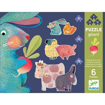 Djeco - Puzzle kart  gigant Dandelion i przyjacieleDJ07145