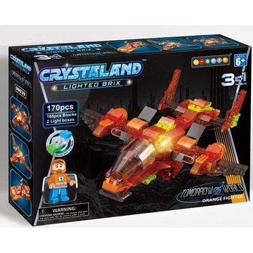 Crystaland - Klocki swiecace LED maszyny kosmiczne orange fight