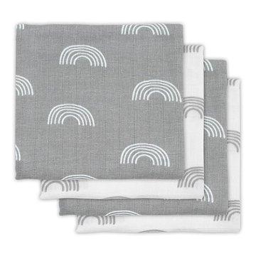Jollein - Baby & Kids - Jollein - 4 pieluszki niemowlęce Hydrophlic 70 x 70 cm Rainbow Grey