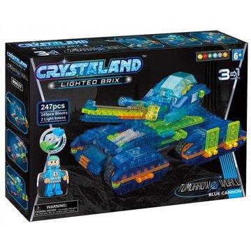 Crystaland - Klocki swiecace LED maszyny kosmiczne blue cannon
