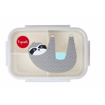 3 Sprouts Lunchbox Bento Leniwiec Grey