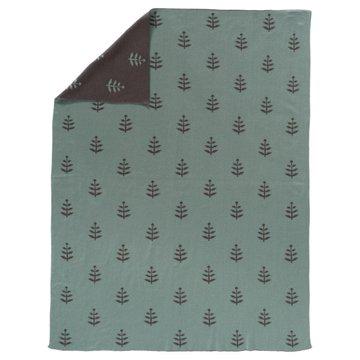 FRESK - Fine knitted blanket 80 x 100 cm Leaves