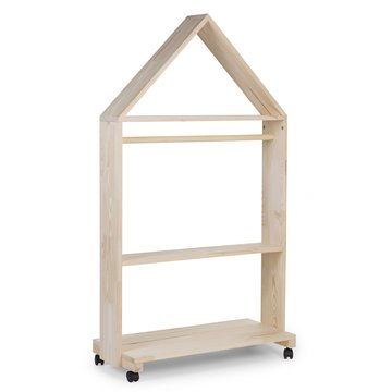 CHILDHOME - OPEN HOUSE CABINET NATURAL +WHEELS 80X135