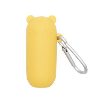 Silikonowa słomka w etui We Might Be Tiny - Yellow