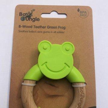 Bo Jungle - B-Gryzak drewniano-silikonowy Animals Green Frog