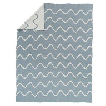 FRESK - Fine knitted blanket 80 x 100 cm Waves