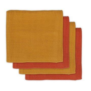 Jollein - Baby & Kids - Jollein - 4 pieluszki bambusowe  70 x 70 cm Mustard Rust
