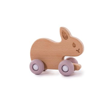 Bo Jungle - B-Drewnany królik na kółkach Pink