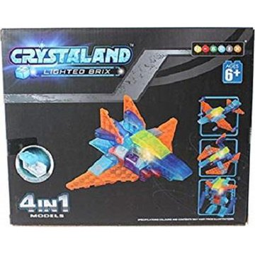 Crystaland - Klocki swiecace LED 4w1 pojazd kosmiczny