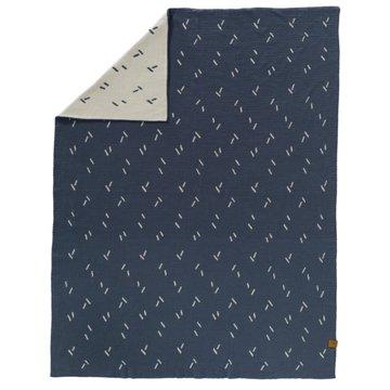 FRESK - Fine knitted blanket 80 x 100 cm Diagonals
