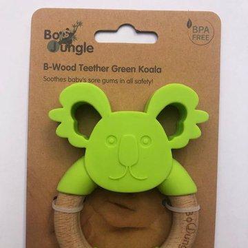 Bo Jungle - B-Gryzak drewniano-silikonowy Animals Green Koala