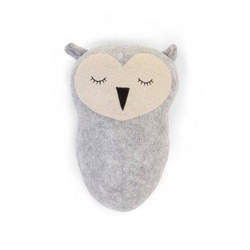 CHILDHOME - Filcowa głowa sowy na ścianę