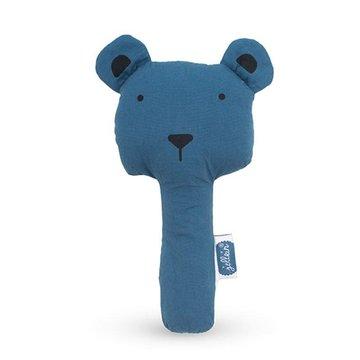 Jollein - Baby & Kids - Jollein - Grzechotka piszcząca Squeaker Animal Club Steel Blue