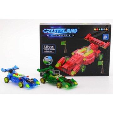Crystaland - Klocki swiecace LED auto wyścigowe