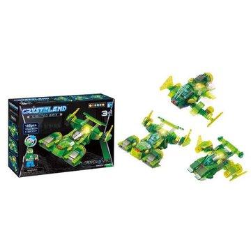 Crystaland - Klocki swiecace LED maszyny kosmiczne green carrie