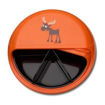 Carl Oscar Rotable SnackDISC™ 5 komorowy obrotowy pojemnik na przekąski Orange - Moose CARL OSCAR
