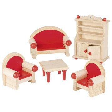 Goki® - Salon - mebelki do domku dla lalek, GOKI-51952 - USZKODZONE OPAKOWANIE
