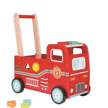 Lelin - Jeździk pchacz wóz strażacki