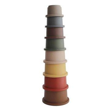 Mushie - Stacking Tower RETRO - wieża z kubeczków mushie