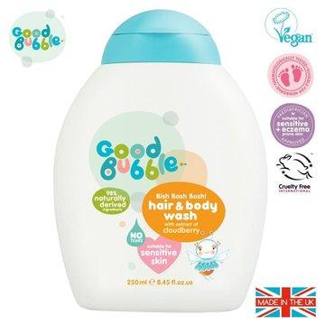 Good Bubble Organiczny żel wegański do mycia włosów i ciała Noworodka i Niemowlaka Cloudberry 250 ml GOOD BUBBLE