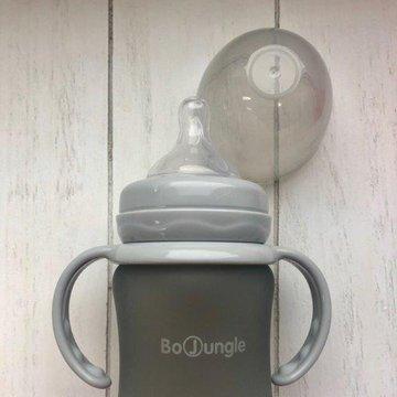 Bo Jungle - B-Thermo Butelka 150ml szkło/silikon Szary
