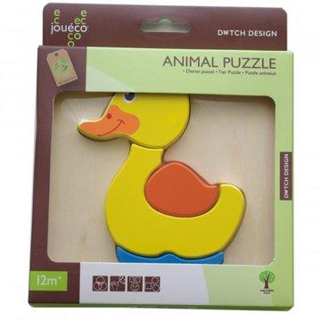 Joueco - Drewniane puzzle Animal - kaczka