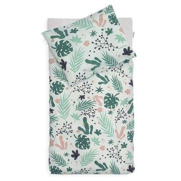 Jollein - Baby & Kids - Jollein - Poszewki na kołderkę 100 x 140 cm i poduszeczkę 40 x 60 cm Leaves