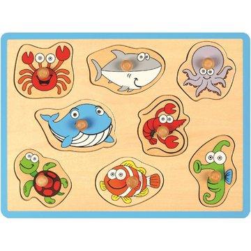 Joueco - Drewniane puzzle- ryby